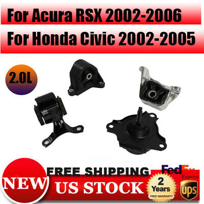 For 2002-2006 Acura RSX 2.0L Trans /& Motor Mount Manual 4549 4503 4508 4528 M585