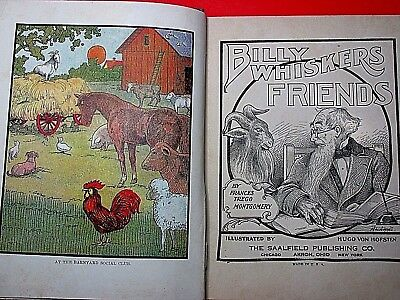 1906 Antique Book Billy Whiskers Childrens Litho Vintage Hard Cover Book Rare