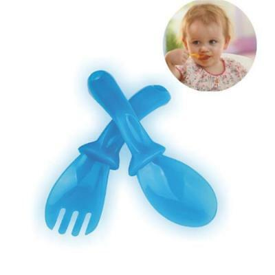4 PairsHigh Quality Baby Spoon Flatware Gift  Baby Feeding Spoon Fork Set JJ