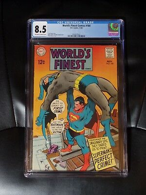 World's Finest #180 CGC 8.5 — Off-white to White Pages — New Case — No Reserve
