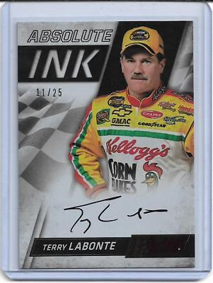 2017 Absolute Ink Spectrum Red Terry Labonte Auto #'d 11/25 On Card Nascar Hof