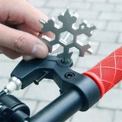 18-in-1 Multi-tool Card Combination Compact Portable Outdoor Snowflake Tool Card