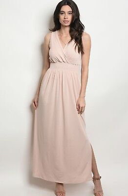 NWT Small Women's Blush Pink Maxi Long Dress Spring Summer Boutique