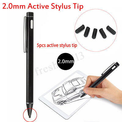 2.0mm Tip Active Drawing Stylus Pen For iPad Samsung Capacitive Screen Touch Nib