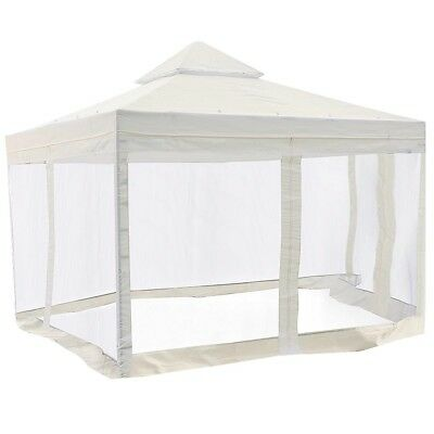 10x10' Gazebo Top Canopy Replacement Patio Pavilion Sunshade Cover Mosquito Net
