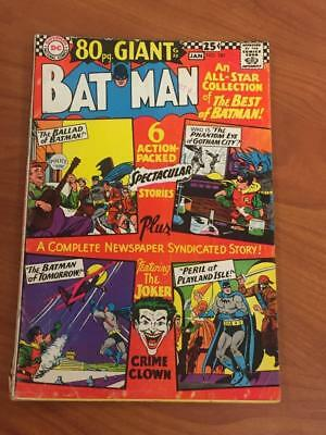 Batman #187 DC Comics 1966 80 page giant low grade