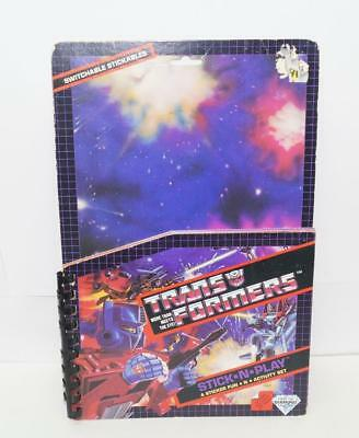 Switchable Stickables Book G1 Transformers Vintage Action Figure Hasbro
