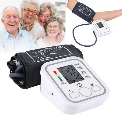 Fully Automatic Upper Arm Blood Pressure Monitor BP Cuff Gauge Machine Meter USA