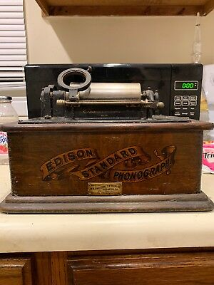 Edison Standard Phonograph With Repeator Sold As Parts Ss Is