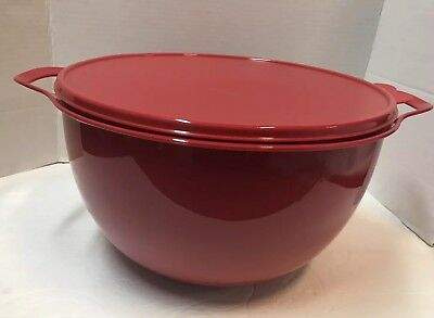 Tupperware Thatsa Bowl 42 Cups  -- 10L RED / Seal New!!!
