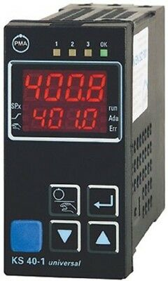 P.M.A KS40 PID KS40-100-000 Temperature Controller,  (1/8 DIN)mm, 3 Output Relay