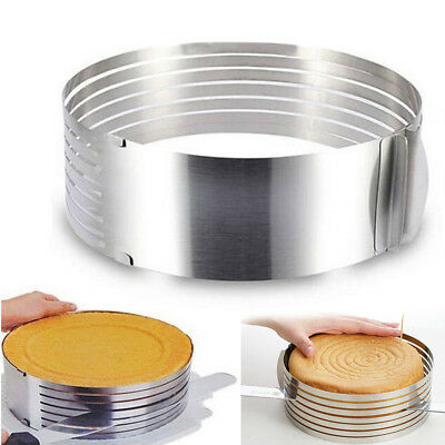 Stainless Steel Ring Layer Adjustable Cake Cutter Bread Layered Slicer Cutting