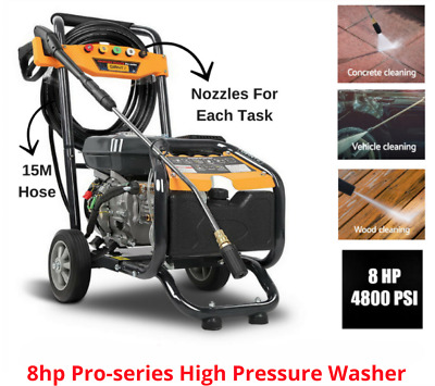 New High Pressure Washer Water Gurney Cleaner Petrol Hose Reel 15M Gerni 4800PSI