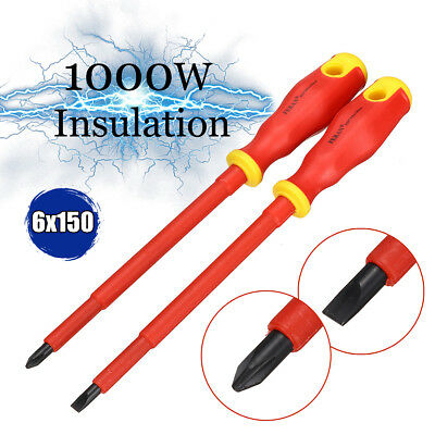 1 Pairs 1000V Electrician Insulated Screwdriver Set Magnetic Electric Tools Kit