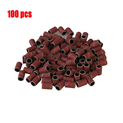"""100 pcs Sanding Band Sleeves 1/4"""" (80#180#120#240#320#400 Grit )For Rotary Tools"""