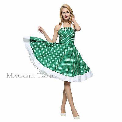 764bc0a64ee8 Maggie Tang 50s Retro VTG Pinup Rockabilly Swing Dress Cos Party Prom S-502