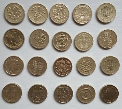 ONE POUND BRITISH COINS,Rare COIN HUNT 1983-2015 - 1£