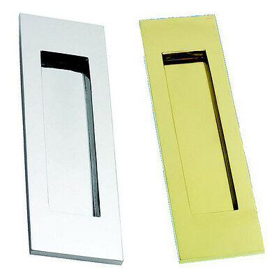 Vertical Letterplate / Letterbox - Polished Brass or Polished Chrome