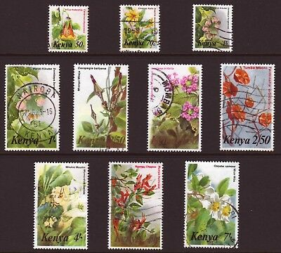 Kenya - 1983 Flowers - Value Selection - Used