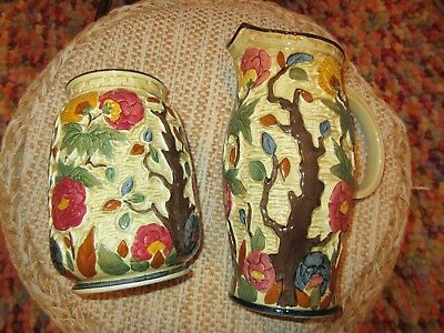 Indian Tree H J Wood Tall jug vase