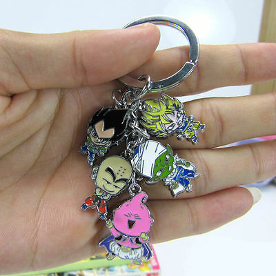 5 IN 1 Anime Dragon Ball Z DBZ Cosplay Son Goku Characters Key Ring Keychain US