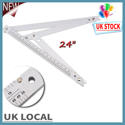"LARGE 24/"" JUMBO PROFESSIONAL BUILDERS FOLDING ANGLE FLOOR SQUARE MULTI RULER NEW"