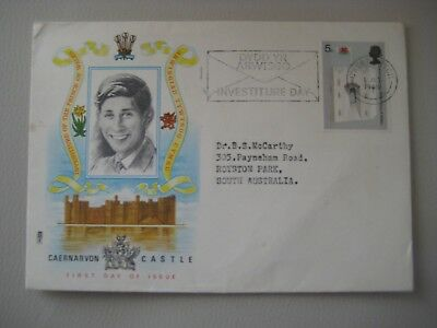 First Day Cover Prince of Wales Investiture 69'