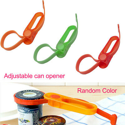 Easy Grip Container Bottle Jar Lid Can Opener Wrench Adjustable Strap Kitchen