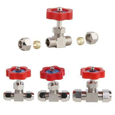 Durable Tube Nickel-Plated Brass Plug OD Needle 6mm/8mm/10mm Valve For Swagelok