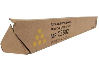 Genuine Ricoh Savin Lanier  YELLOW Toner MP C3502 MP C3002  841736, 841648