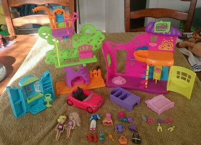 Polly Pocket DOLLS Accessories Clothes FURNITURE House Pollypocket MIXED LOT Toy