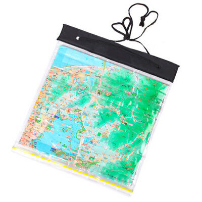 Hiking Waterproof Bag Map Clear Holder Case Pouch Camping Portable Universal