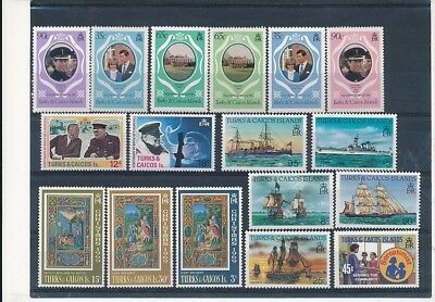 D241726 Turks & Caicos Islands Nice selection of MNH stamps