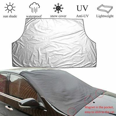Magnetic Car Windscreen Cover Ice Frost Shield Snow Protector Sun Shade Van NU