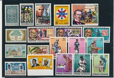 D241755 Central Africa Nice selection of MNH stamps
