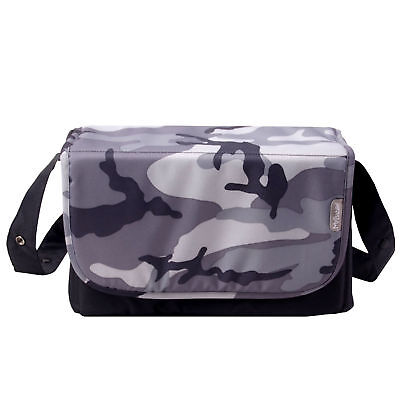 New My Babiie Grey Camo Baby Maternity Hospital Nappy Changing Bag & Change Mat