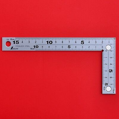 Japanese SHINWA ruler Carpenter's Carpenter Square with magnets 10435 Stainless