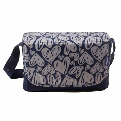 New My Babiie Navy Hearts Baby Maternity Nappy Changing Bag & Change Mat