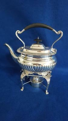 Rare & Magnificent Edwardian H/M Sterling Silver Spirit Kettle 1044g Ldn 1907