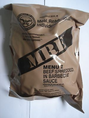 MRE Menu 2, Beef Shredded in Barbecue Sauce, US Army EPA Verpflegung, Notration
