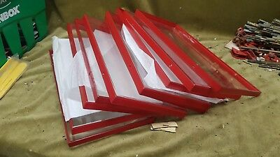 10 original large plastic window panels for K6 Telephone Box new old stock