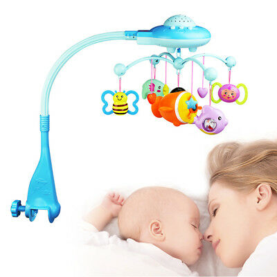 Rotary Baby Crib Mobile Bed Bell Toy Holder Arm Bracket Hanging Music Toys AU KT