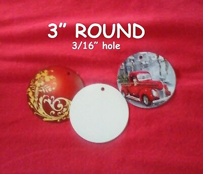 "3"" Blank Aluminum Sublimation Discs with 3/16"" Hole for Hanging - $0.48 each"