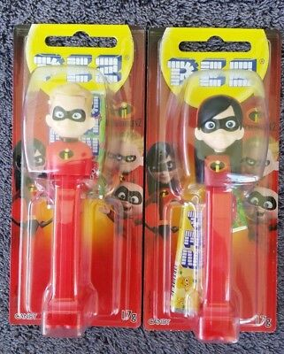the Incredibles 2 - PEZ Dash and Violet - 2 dispensers Brand New - sealed  (#88)