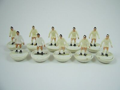 10x Subbuteo H/W Heavyweight Leeds United, Real Madrid Ref 21 Spare Players