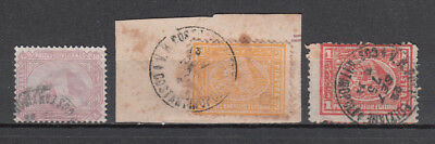 Egypt - Post Offices Abroad   1875 Used Third Issue 3 Stamps Constantinople Cds.
