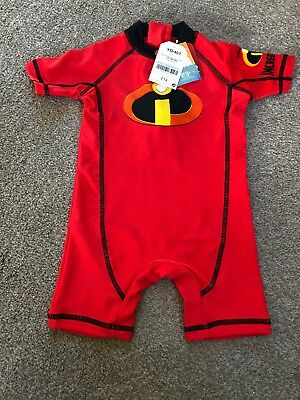 Next Disney The Incredibles Sunsuit Sun Safe Swim Suit One Piece 12-18 M UPF 50