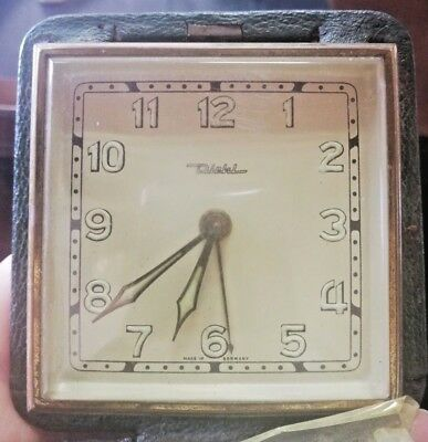 Vintage DIEHL Travel Alarm Folding Clock Germany Made for Collectibles or Repair