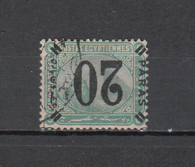 Egypt  1884 De La Rue Provisional Surcharge Stamp Inverted Overprint