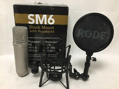 Rode NT1-A Condenser Microphone With SM6 Shockmount And Popshield